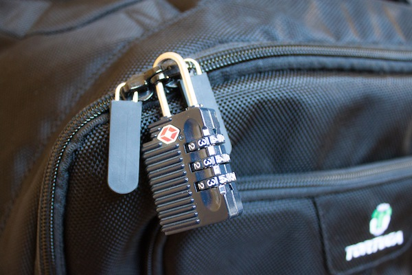 TSA-approved lock to secure your bag